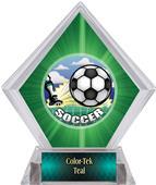 HD Soccer Green Diamond Ice Trophy