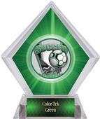 ProSport Soccer Green Diamond Ice Trophy