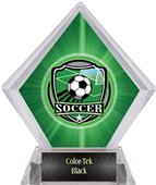 Shield Soccer Green Diamond Ice Trophy