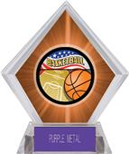 Americana Basketball Orange Diamond Ice Trophy