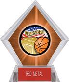 Americana Basketball Orange Diamond Ice Trophy