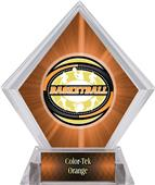 Classic Basketball Orange Diamond Ice Trophy