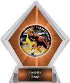 P.R. Female Basketball Orange Diamond Ice Trophy