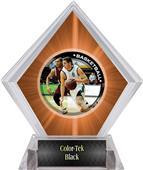 P.R. Male Basketball Orange Diamond Ice Trophy