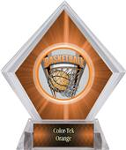 ProSport Basketball Orange Diamond Ice Trophy