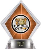 Xtreme Basketball Orange Diamond Ice Trophy