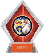 Americana Baseball Red Diamond Ice Trophy