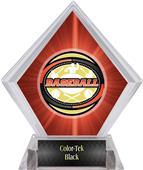Classic Baseball Red Diamond Ice Trophy Plate