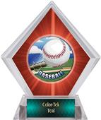 HD Baseball Red Diamond Ice Trophy