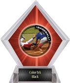 P.R.2 Baseball Red Diamond Ice Trophy Plate