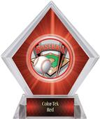 ProSport Baseball Red Diamond Ice Trophy Plate