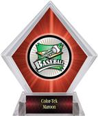 Xtreme Baseball Red Diamond Ice Trophy Plate