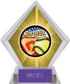 Americana Softball Yellow Diamond Ice Trophy