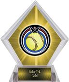 Eclipse Softball Yellow Diamond Ice Trophy