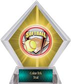 ProSport Softball Yellow Diamond Ice Trophy