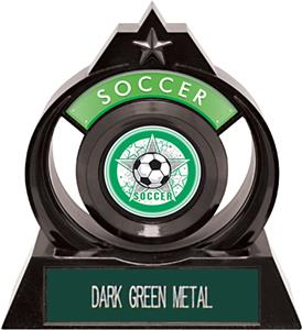 DARK GREEN METAL PLATE