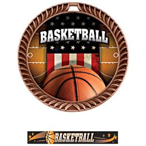 BRONZE MEDAL/ULTIMATE BASKETBALL NECK RIBBON