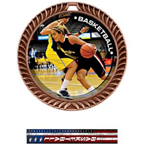 BRONZE MEDAL/PATRIOT BASKETBALL NECK RIBBON