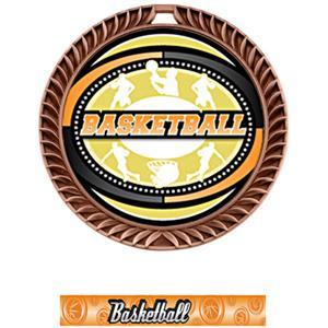 BRONZE MEDAL/GRAPHX BASKETBALL NECK RIBBON