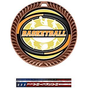 BRONZE MEDAL/PATRIOT BASKETBALL NECK RIBBON