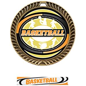 GOLD MEDAL/DELUXE BASKETBALL NECK RIBBON