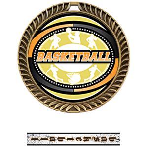 GOLD MEDAL/INTENSE BASKETBALL NECK RIBBON