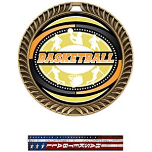 GOLD MEDAL/PATRIOT BASKETBALL NECK RIBBON