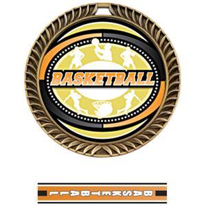 GOLD MEDAL/TURBO BASKETBALL NECK RIBBON