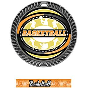 SILVER MEDAL/GRAPHX BASKETBALL NECK RIBBON