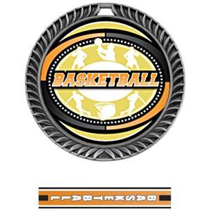 SILVER MEDAL/TURBO BASKETBALL NECK RIBBON