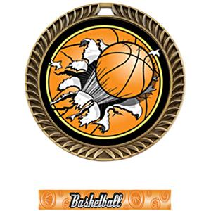 GOLD MEDAL/GRAPHX BASKETBALL NECK RIBBON
