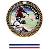 Hasty Awards Crest Baseball Medal P.R.1 M-8650C