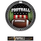 Hasty Awards Crest Football Medal Patriot M-8650F