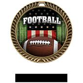 Hasty Awards Crest Football Medal Patriot M-8650F