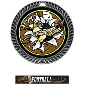Hasty Awards Crest Football Medal Bust-Out M-8650F