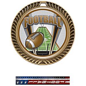 GOLD MEDAL/PATRIOT FOOTBALL NECK RIBBON