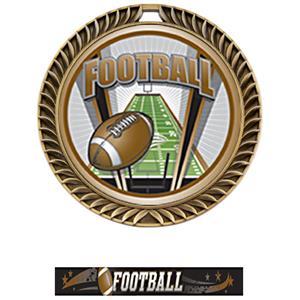 GOLD MEDAL/ULTIMATE FOOTBALL NECK RIBBON
