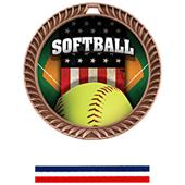 Hasty Awards Crest Softball Medal Patriot M-8650O