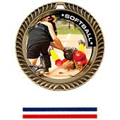 Hasty Awards Crest Softball Medal P.R.2 M-8650O