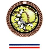 Hasty Awards Crest Softball Medal Bust-Out M-8650O