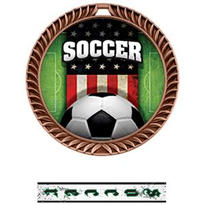 BRONZE MEDAL/INTENSE SOCCER NECK RIBBON