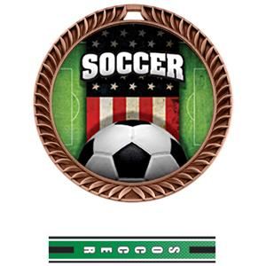 BRONZE MEDAL/TURBO SOCCER NECK RIBBON