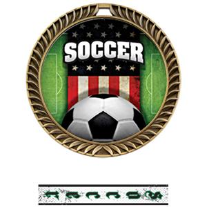 GOLD MEDAL/INTENSE SOCCER NECK RIBBON