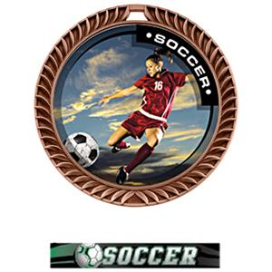 BRONZE MEDAL/ULTIMATE SOCCER NECK RIBBON