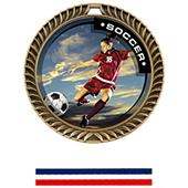 Hasty Award Crest Soccer Medal P.R. Female M-8650S