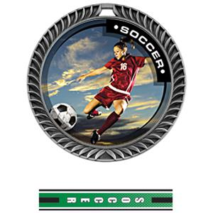 SILVER MEDAL/TURBO SOCCER NECK RIBBON