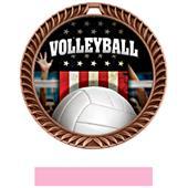 Hasty Award Crest Volleyball Medal Patriot M-8650V