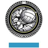 Awards Crest Volleyball Medal Bust-Out M-8650V