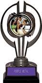 "Black Hurricane 7"" P.R. Male Basketball Trophy"