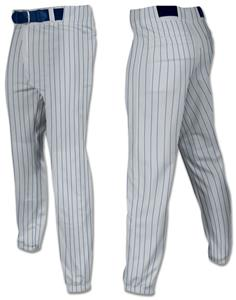 GREY W/NAVY PINSTRIPES